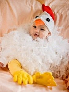 disfraz de pollito para un bebe