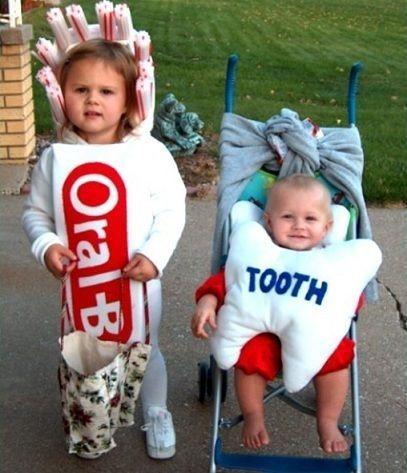 Disfraz original de diente y cepillo