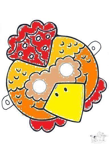 careta gallina coloreada