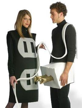 Disfraz electrico Disfraz de enchufe